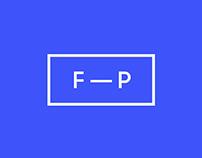 FP — Designer · Identity and website.