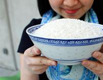 Studio Kitchen Scarves -- White Rice