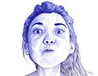 New portrait, BIC pen