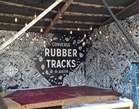 Murals for Converse during SXSW 2014