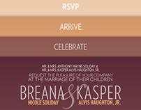 Haughton–Soliday wedding invitation
