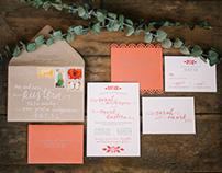 Sarah + Mark Wedding Invitations