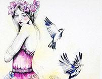 Whisper // watercolour illustration