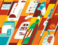 Editorial illustration for The Sunday Times Travel Mag