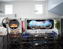 Magnetic Aquarium. Room Visualisation.3Ds Max & Vray