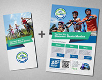 EcoBike - Bicycle Rental Trifold Brochure + Flyer
