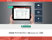 Analytics Tool Landing Page