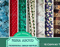 10 Canvas Textures Pack