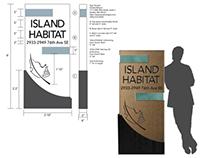 Island Habitat Signage