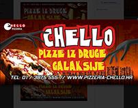 Billboard for pizzeria Chello