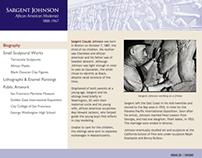 Sargent Johnson Website (screenshots)