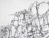 Sketch Book 3- Lankscape of Mount Lao