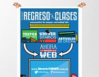Librería Europa's Back To School Promo Poster
