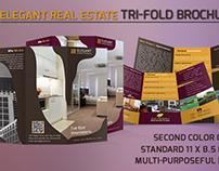 Elegant Real Estate Tri-Fold Brochure Template