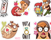VIBER sticker set 3, Alex & Zoe