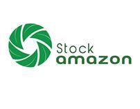 Logo para banco de imagens da Amazônia. Logo for stock