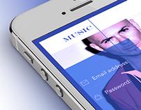 Music concept iOS7 - App Design
