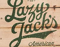 Vintage style hand lettering for cider label