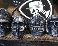 Fourspeed Metalwerks Skull Rings Collection Part Five