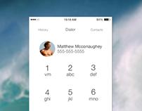 iOS7 styled dialer