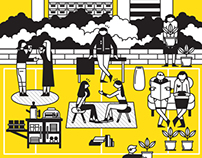 Block Party : An illustration for Cubes Magazine