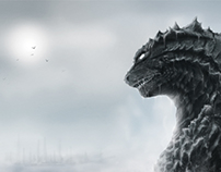 """The Calm"" Godzilla 2014 Poster Submission"