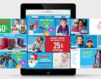 The Children's Place Website Design (Tablet & Mobile)