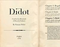 Didot Logotype & Specimen Sheet