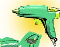 Digital Sketch: Glue-guns
