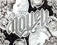I LOVE U / I KNOW Ambigram Artwork