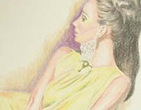 Retro Fashion Model in Yellow by K Fairbanks