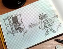 DESIGN DE PERSONAGEM (CHARACTER DESIGN) BAZAR MARIANA S