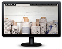 Fabric manufacturer ecommerce concept