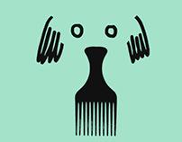 Illustrated posters for Estil Animal, dog hairdressers