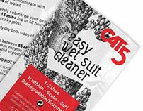 CAT5 wet suit cleaner pouch