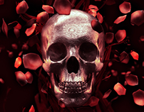 Rose Petal Skull- Free Wallpaper