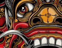 Balinese Mask Set