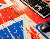 Union Jack colored Table