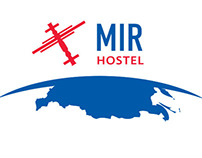 Brand identity and website for «Mir hostel»