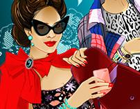 Illustrations for Tatler Russia Magazine, 2013