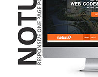 Notun One Page Web Design. Full Project