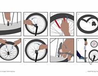 How to Change a BMX Innertube - Illustration