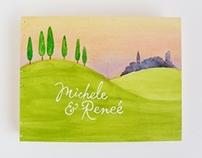 Michele & Reneé's Custom Tuscan Wedding Album