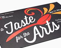 A Taste for the Arts Gala Invitation