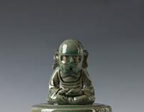 Celadon with Taekwon-Bodhisattva Mk.2