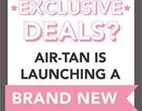 Air Tan Text Club Flier & Web Banner