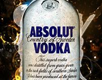 Absolut Vodka Advertisement Design