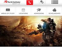 Responsive homepage Art Institutes
