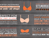 The Best Bra For Your Breast Type Infographic