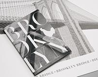 Brooklyn Bridge in Letterpress Type (Completed)